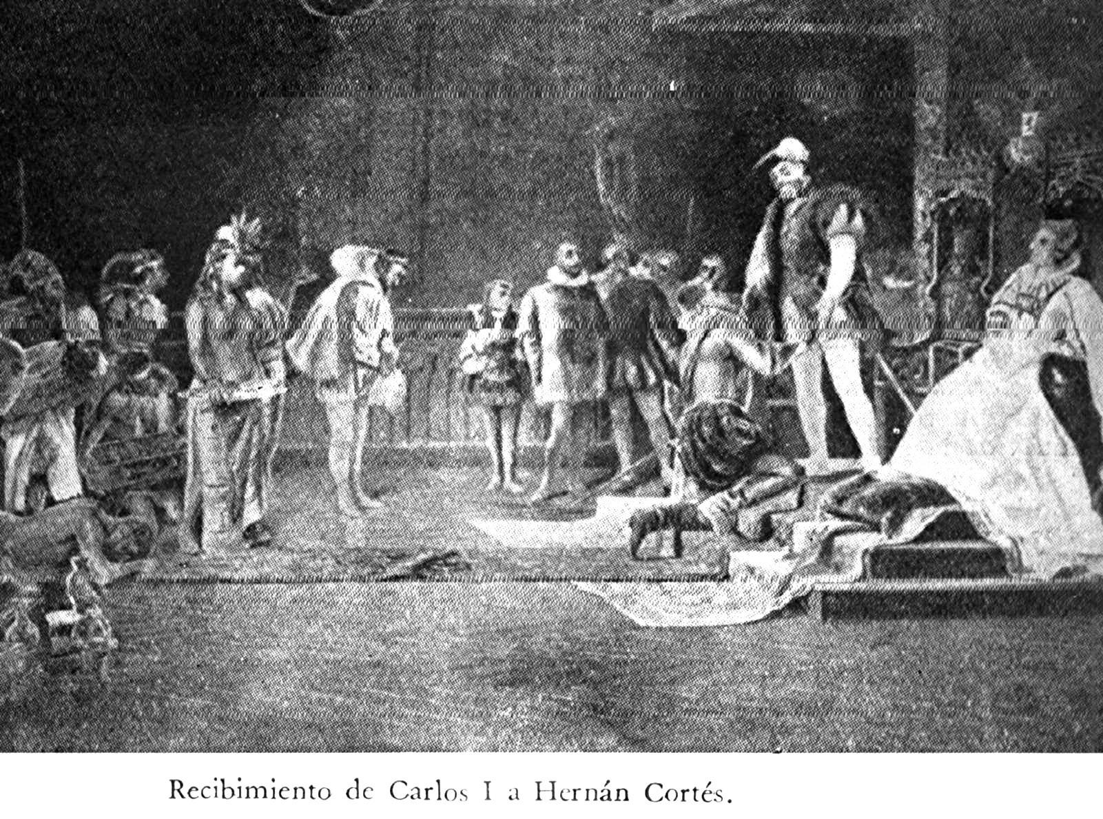 Audienz des Hernán Cortés bei Kaiser Karl V.