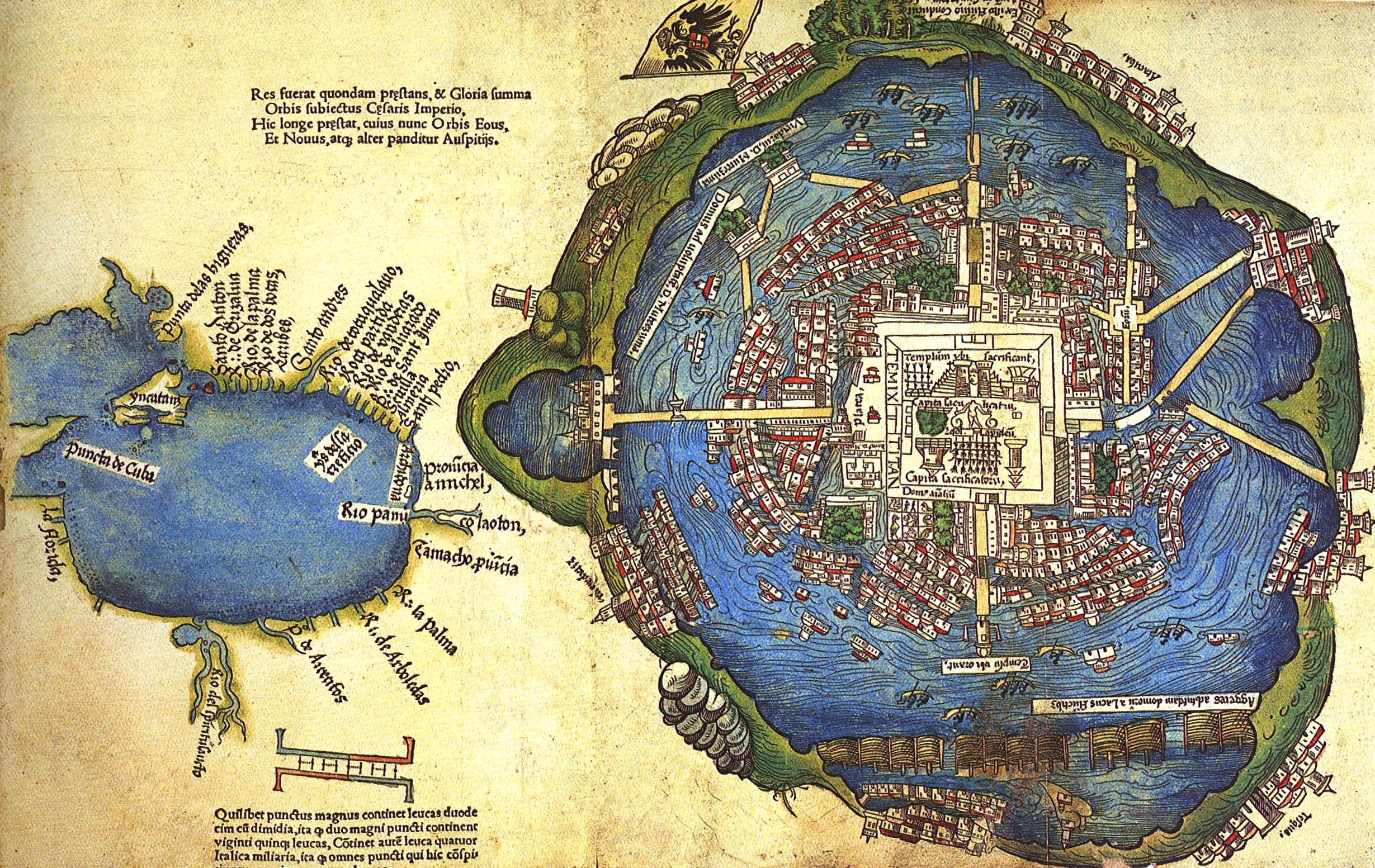 Este es el mapa ms antiguo de la Ciudad de Mxico  Ms de Mxico