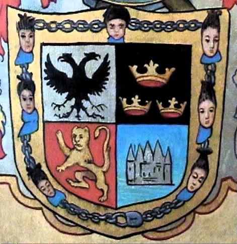 Escudo de Cortés en su viejo palacio de Cuernavaca (F. Hinz)
