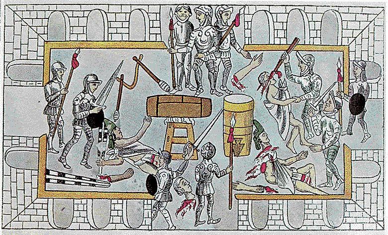 Alvarado en la matanza del Templo Mayor